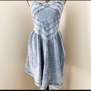 Quiksilver Womens Denim Striped Dress Size Medium